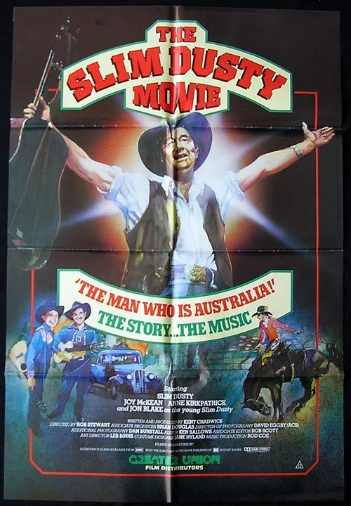 SLIM DUSTY Movie, The 1984 Country Music ORIGINAL One Sheet Movie poster