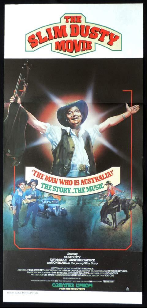 THE SLIM DUSTY MOVIE Daybill Movie poster Australian Country Music
