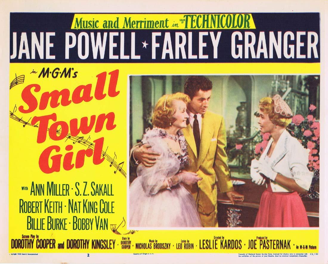 SMALL TOWN GIRL Original Lobby Card 2 Jane Powell Farley Granger