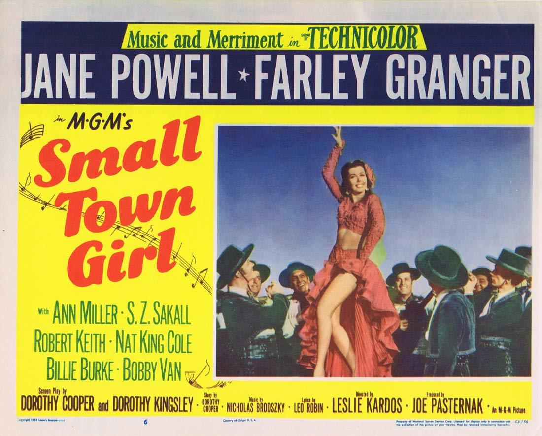 SMALL TOWN GIRL Original Lobby Card 6 Jane Powell Farley Granger