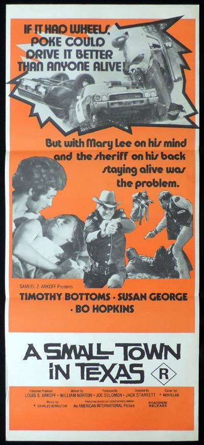 A SMALL TOWN IN TEXAS Daybill Movie Poster Timothy Bottoms