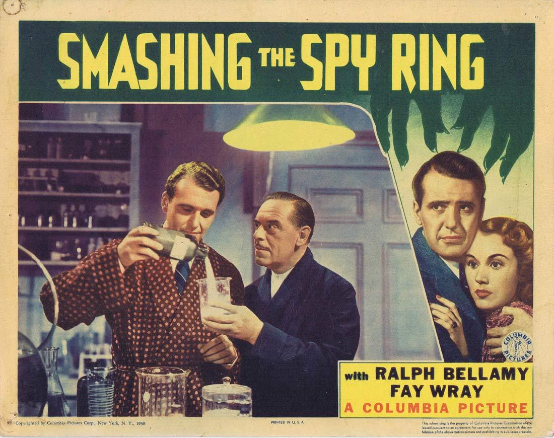 SMASHING THE SPY RING Original Lobby Card 4 Ralph Bellamy Fay Wray Regis Toomey 1937
