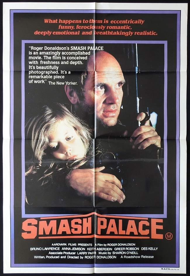 SMASH PALACE Australian One sheet Movie poster Bruno Lawrence New Zealand Film