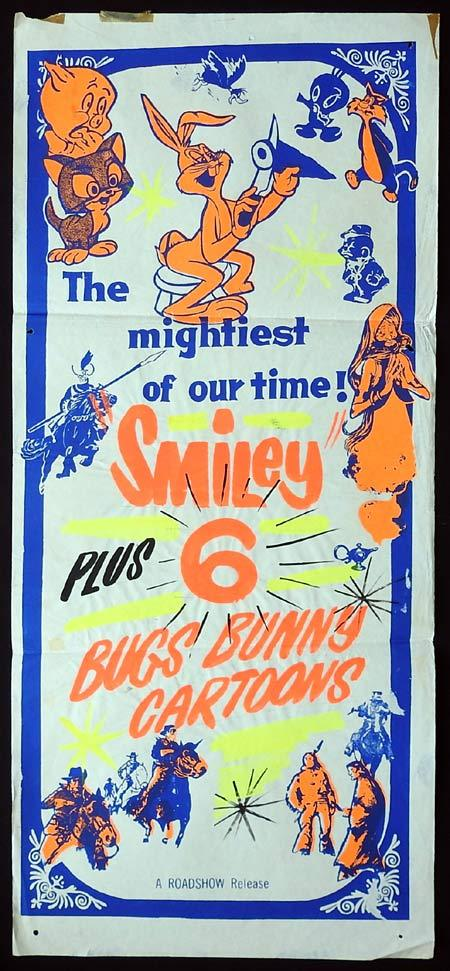 SMILEY Original Stock Daybill Movie Poster plus Six Cartoons!