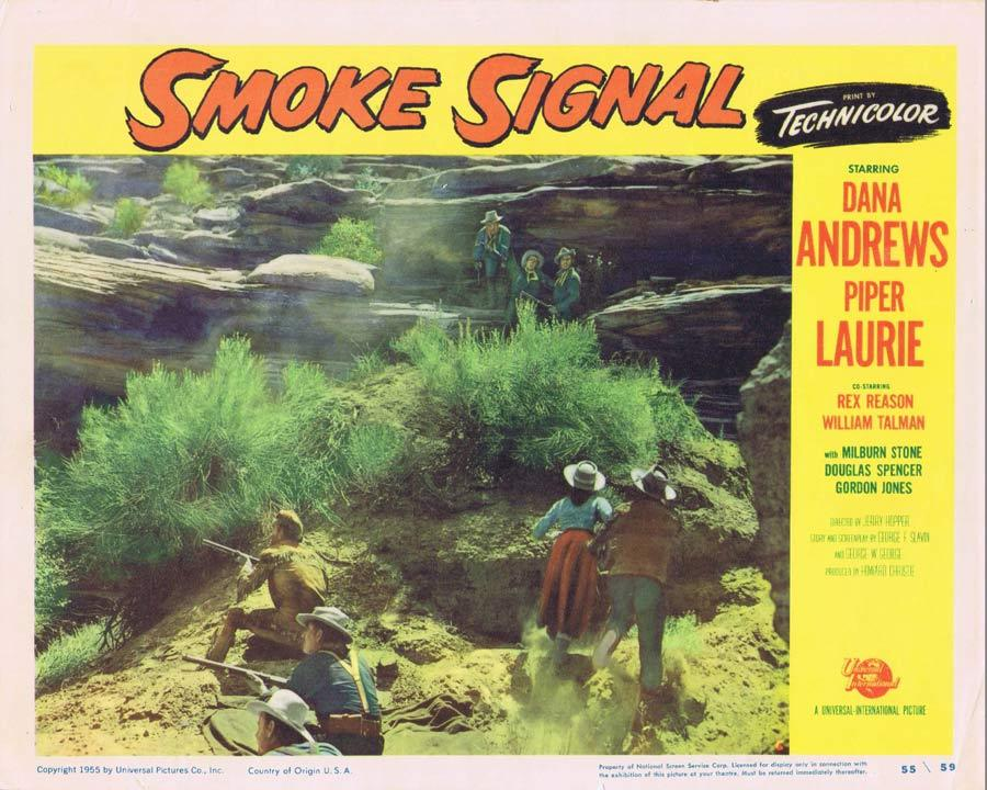 SMOKE SIGNAL Lobby Card 6 Dana Andrews 1955 Western American Indian