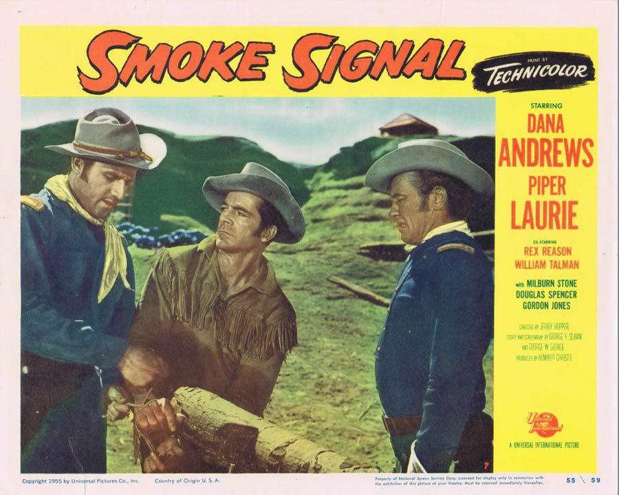SMOKE SIGNAL Lobby Card 7 Dana Andrews 1955 Western American Indian