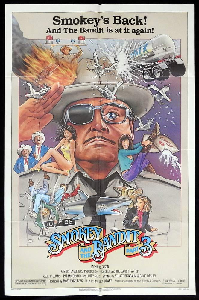 SMOKEY AND THE BANDIT 3 Original US One sheet Movie poster Jackie Gleason Jerry Reed