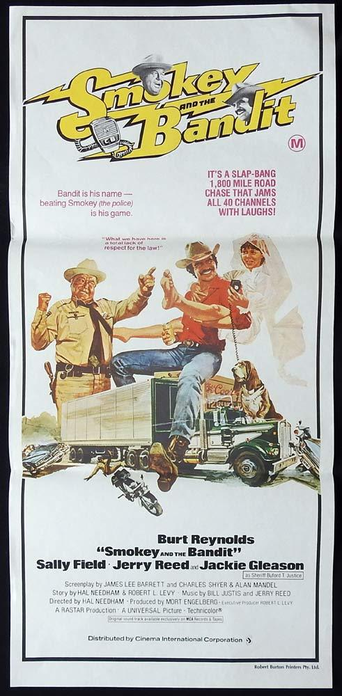 SMOKEY AND THE BANDIT Original Daybill Movie poster Burt Reynolds Sally Field