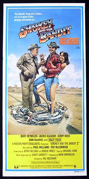 SMOKEY AND THE BANDIT RIDE AGAIN Daybill Movie Poster Burt Reynolds