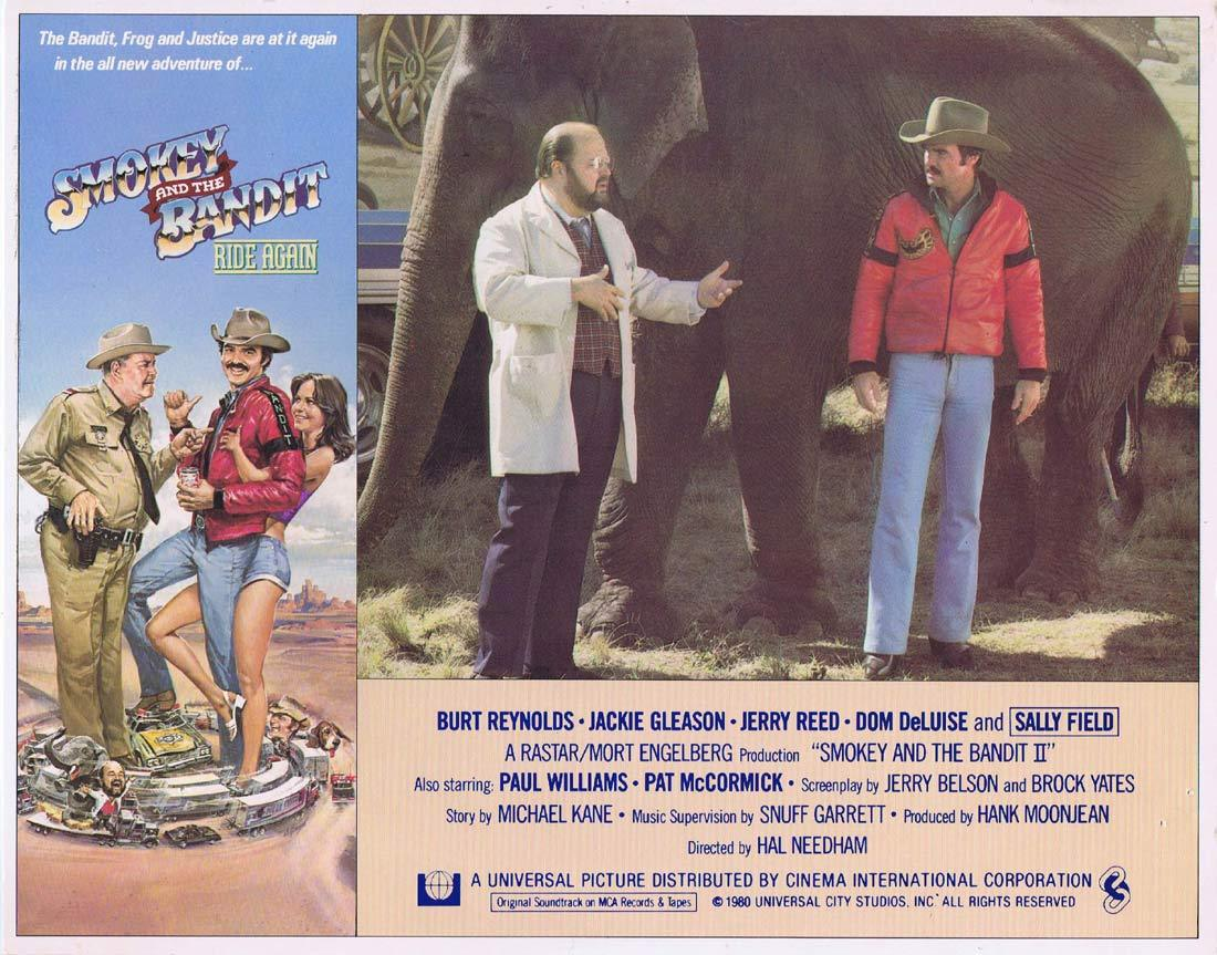 SMOKEY AND THE BANDIT II Lobby Card 2 Burt Reynolds Jackie Gleason