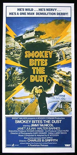 SMOKEY BITES THE DUST Australian Daybill Movie poster