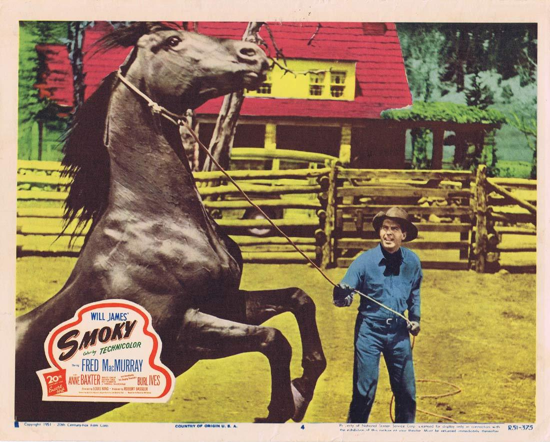 SMOKY Lobby Card 4 1951r Fred MacMurray Anne Baxter