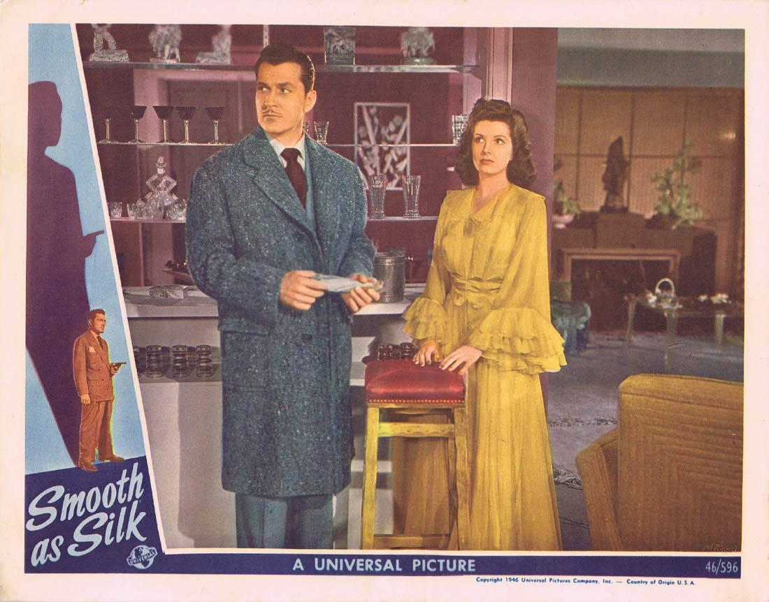 SMOOTH AS SILK Lobby Card FILM NOIR Kent Taylor Virginia Grey Milburn Stone