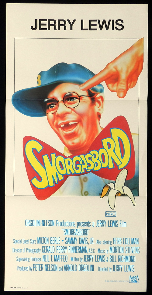 SMORGASBORD Jerry Lewis Daybill Movie Poster Cracking Up