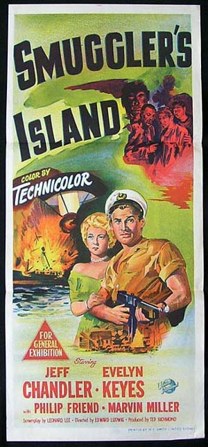 SMUGGLERS ISLAND Daybill Movie Poster 1951 Jeff Chandler