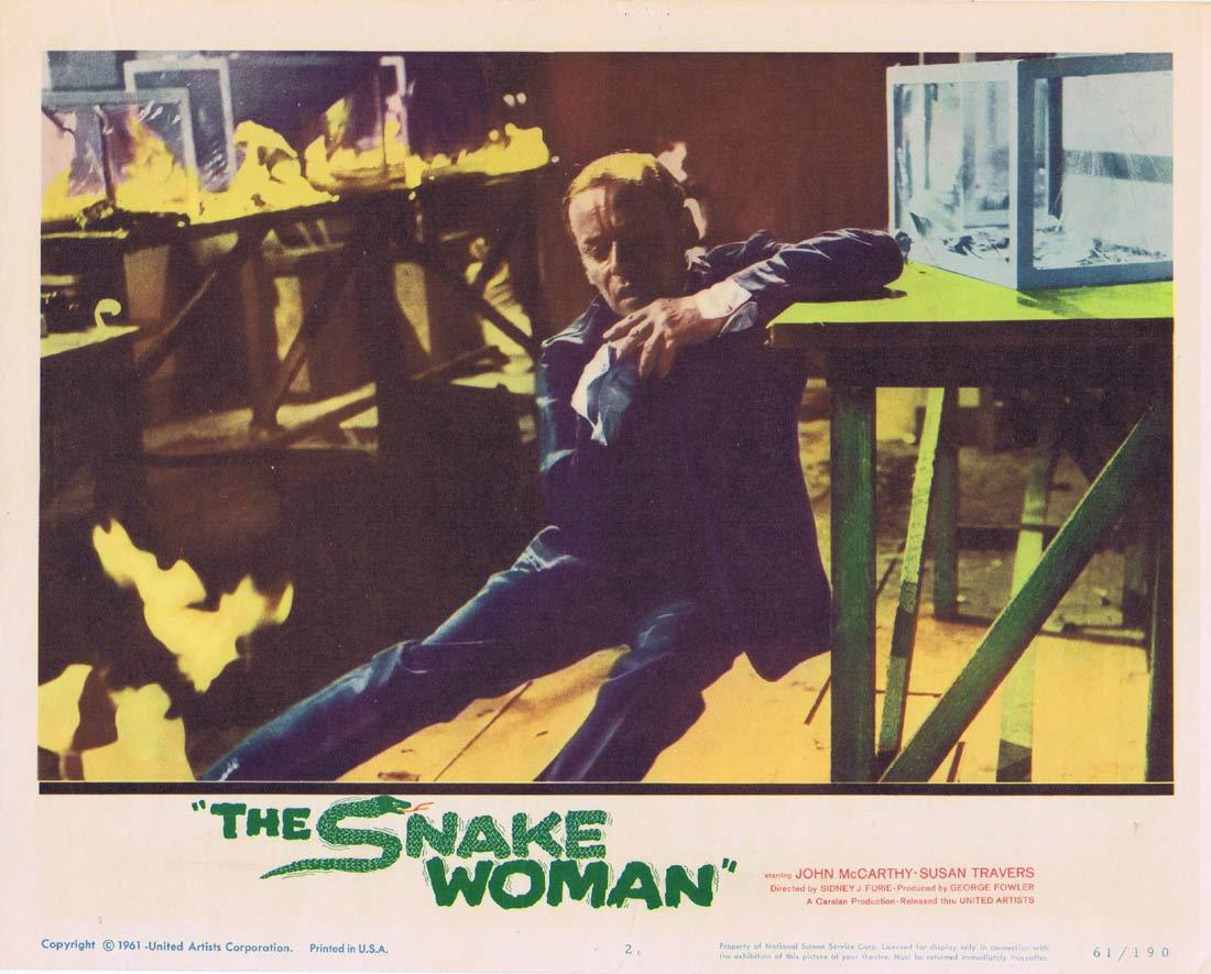 THE SNAKE WOMAN Original Lobby Card 2 John McCarthy Susan Travers