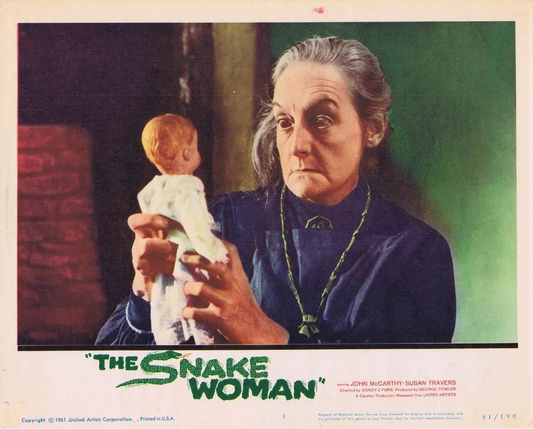 THE SNAKE WOMAN Original Lobby Card 3 John McCarthy Susan Travers