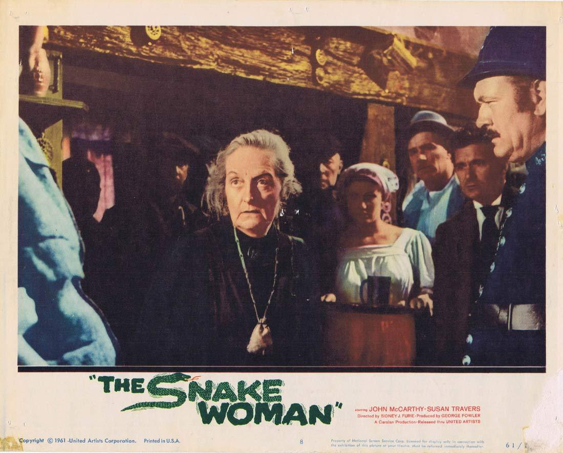 THE SNAKE WOMAN Original Lobby Card 8 John McCarthy Susan Travers
