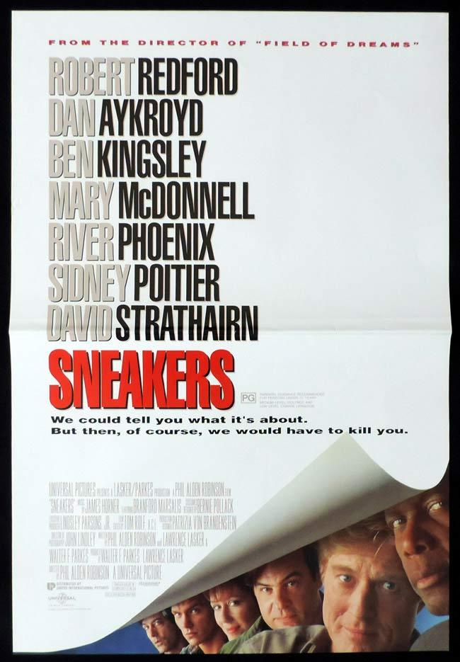 SNEAKERS Original Daybill Movie Poster Robert Redford Dan Aykroyd