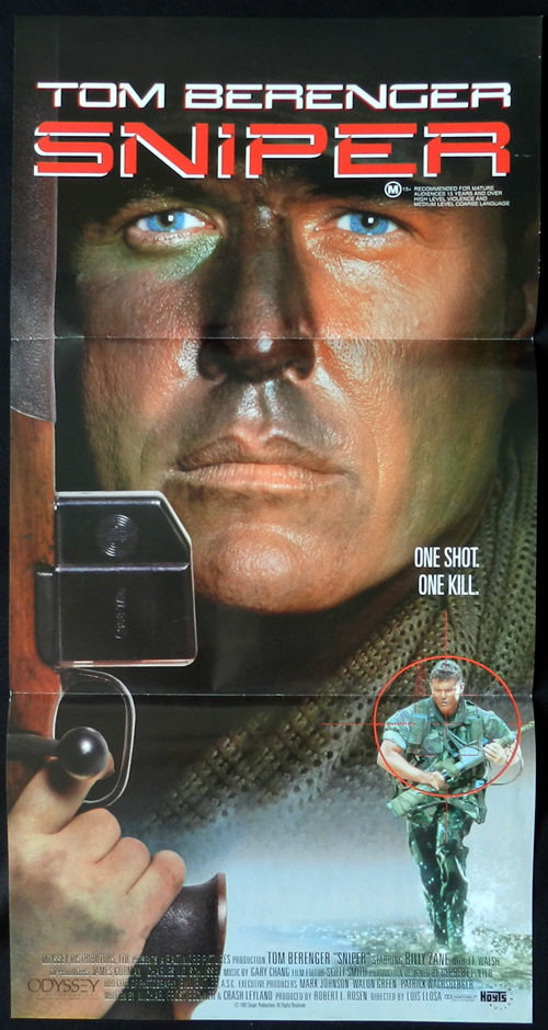 SNIPER Tom Berenger Australian daybill Movie poster
