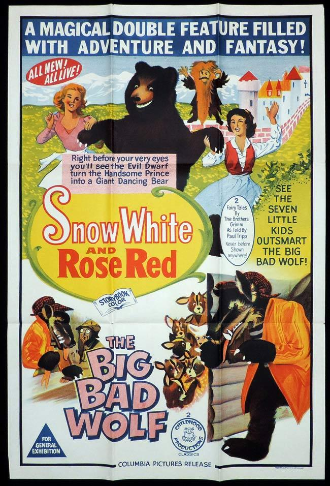 SNOW WHITE AND ROSE RED One Sheet Movie Poster Jules Dassin Peter Finch