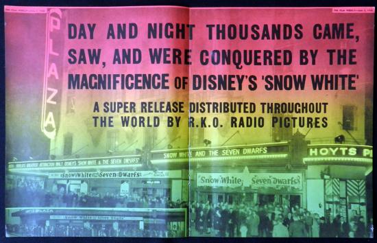SNOW WHITE AND THE SEVEN DWARFS 1938 Walt Disney VINTAGE Original Movie Trade Ad 2