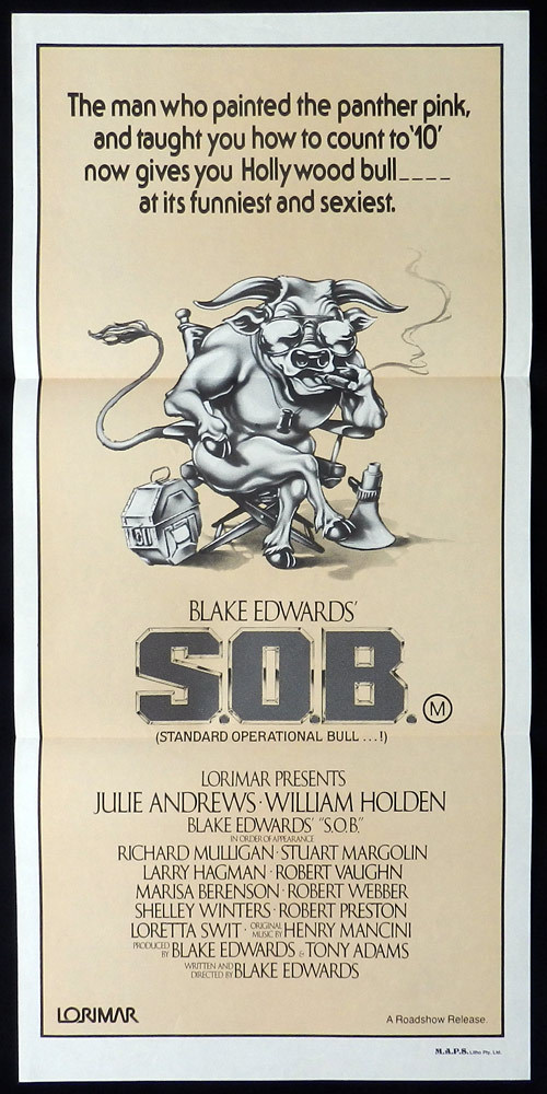 S.O.B aka SOB Australian Daybill Movie Poster Julie Andrews Blake Edwards