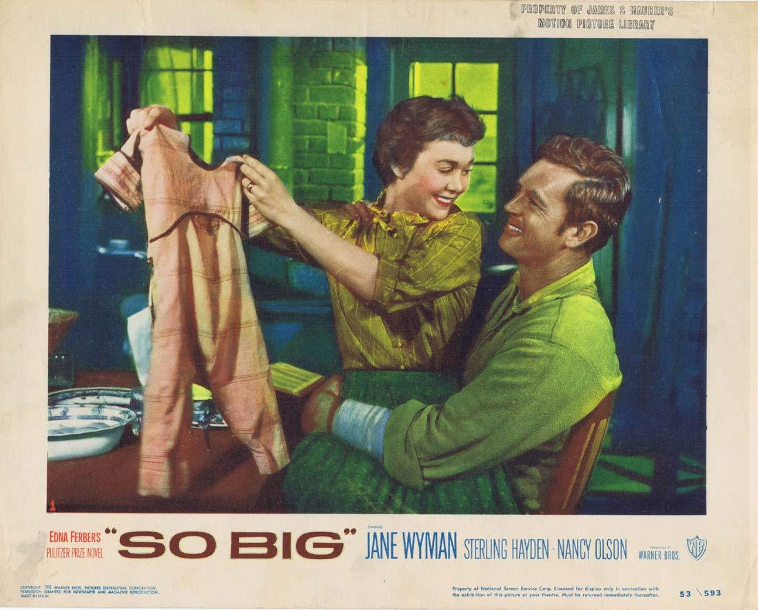 SO BIG Lobby Card 1 Jane Wyman Sterling Hayden