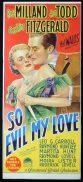 SO EVIL MY LOVE Original Daybill Movie Poster RAY MILLAND Ann Todd Richardson Studio