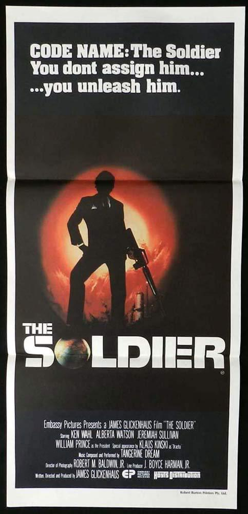 THE SOLDIER Original Daybill Movie Poster Ken Wahl Alberta Watson