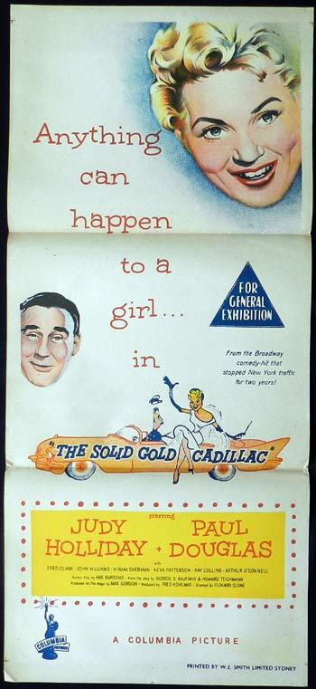 THE SOLID GOLD CADILLAC 1956 Judy Holliday RARE Daybill Movie poster