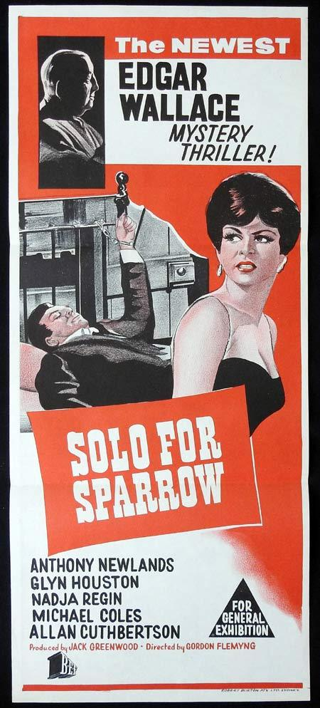 SOLO FOR SPARROW Original Daybill Movie Poster Edgar Wallace Mysteries
