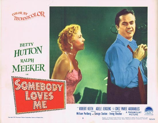 SOMEBODY LOVES ME Lobby Card 3 1952 Ralph Meeker Betty Hutton