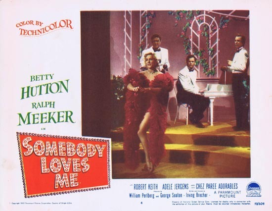 SOMEBODY LOVES ME Lobby Card 4 1952 Ralph Meeker Betty Hutton
