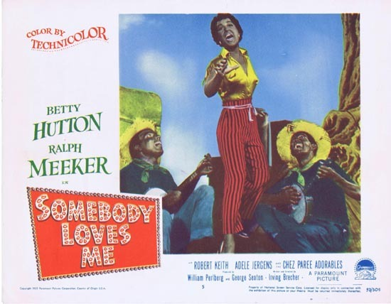 SOMEBODY LOVES ME Lobby Card 5 1952 Adele Jergens