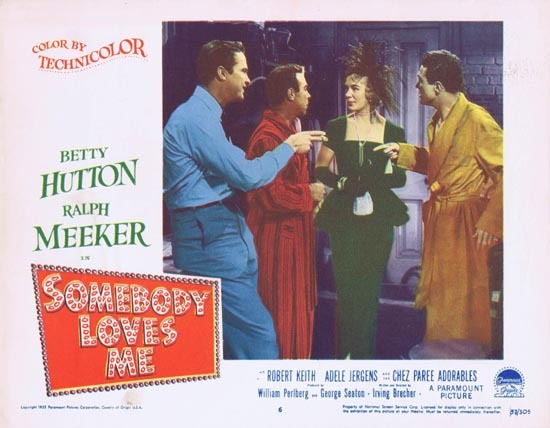 SOMEBODY LOVES ME Lobby Card 6 1952 Ralph Meeker Betty Hutton