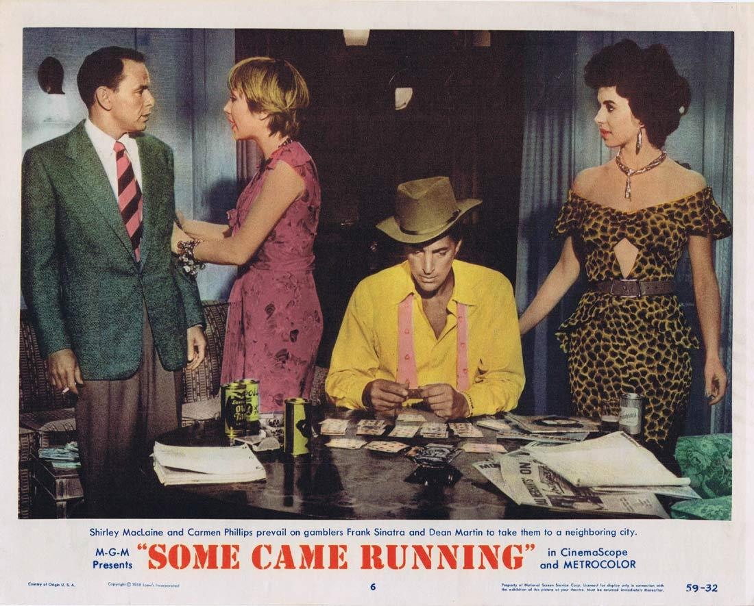 SOME CAME RUNNING Original Lobby Card 6 Frank Sinatra Dean Martin