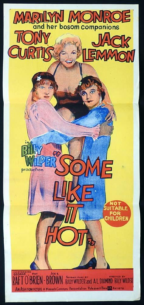 SOME LIKE IT HOT Marilyn Monroe Daybill Movie Poster