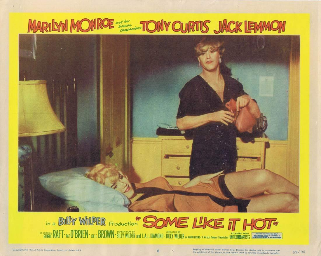 SOME LIKE IT HOT Lobby Card 6 Marilyn Monroe Tony Curtis Jack Lemmon