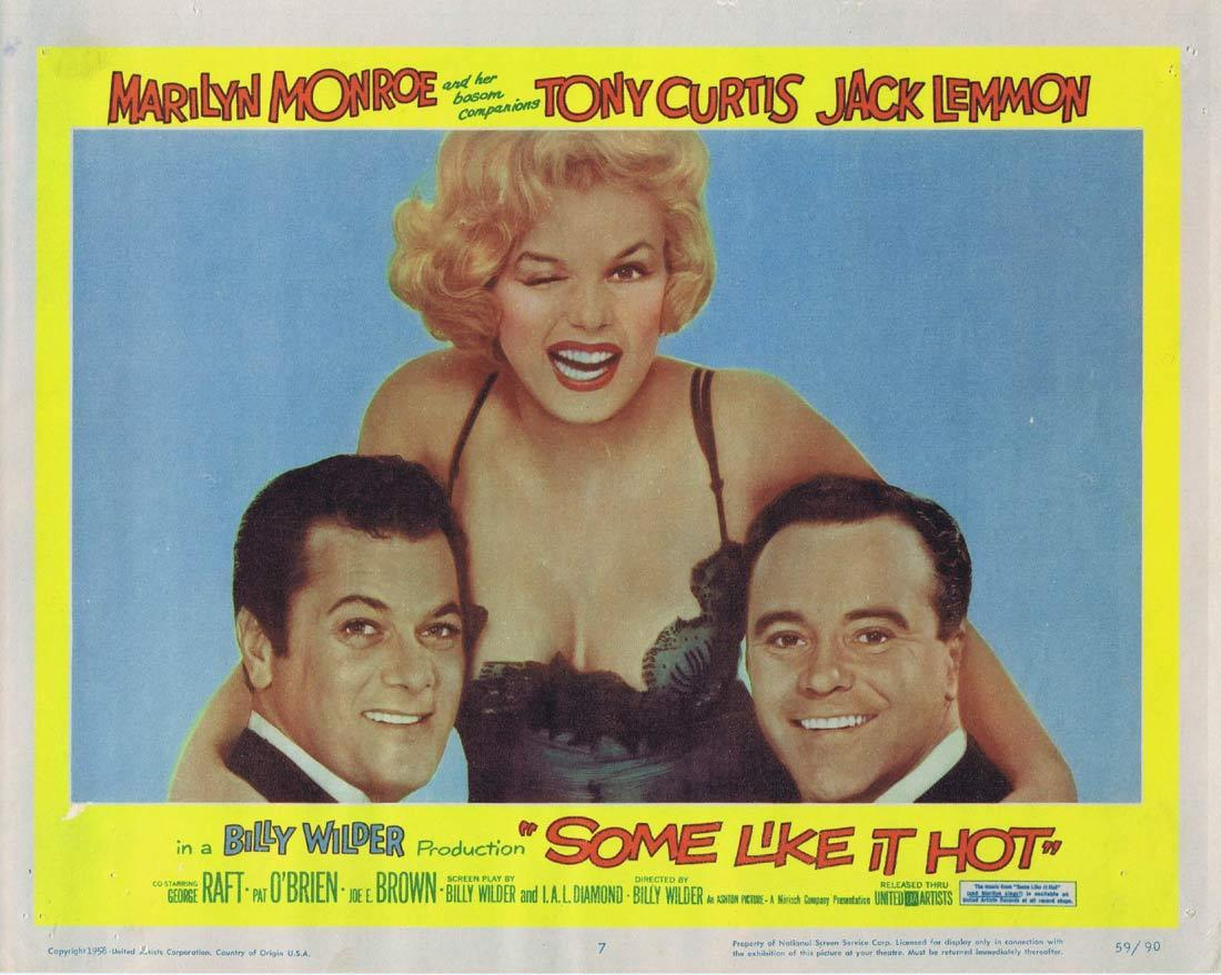 SOME LIKE IT HOT Lobby Card Marilyn Monroe 7 Tony Curtis Jack Lemmon