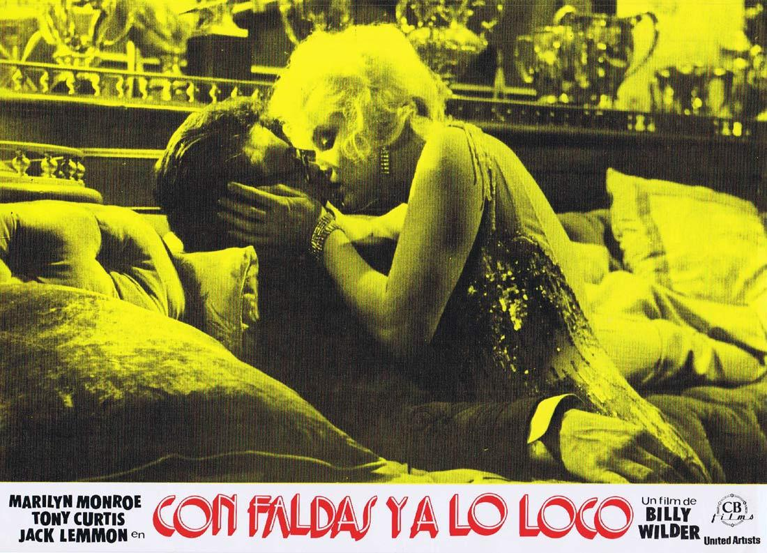 SOME LIKE IT HOT Original 1983r Spanish Lobby Card 5 Marilyn Monroe
