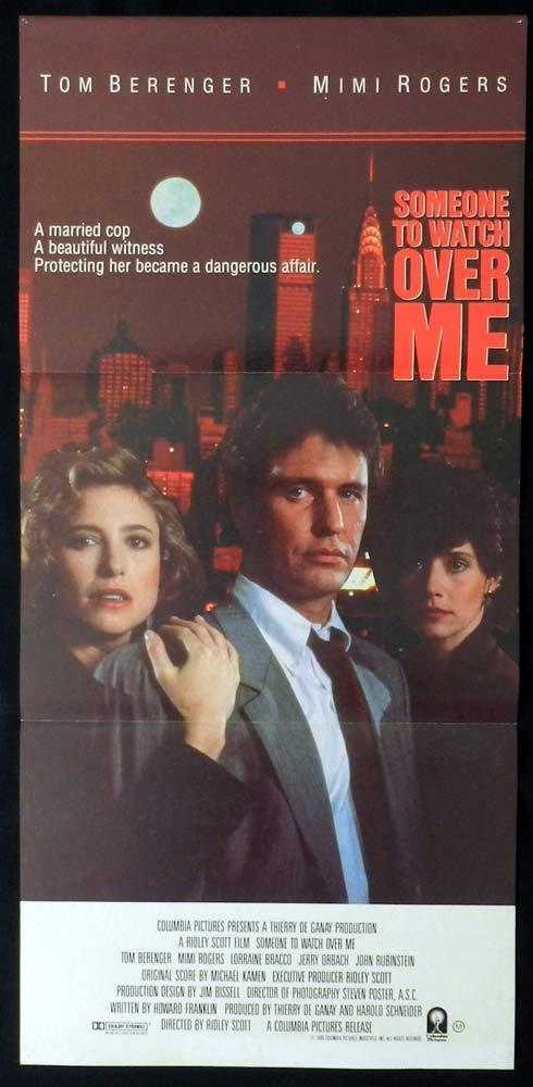 SOMEONE TO WATCH OVER ME Original Daybill Movie Poster Tom Berenger Mimi Rogers