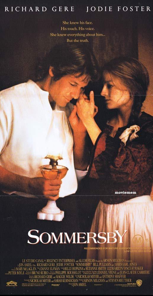 SOMMERSBY Daybill Movie Poster Richard Gere Jodie Foster