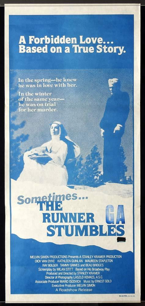 SOMETIMES THE RUNNER STUMBLES daybill movie poster