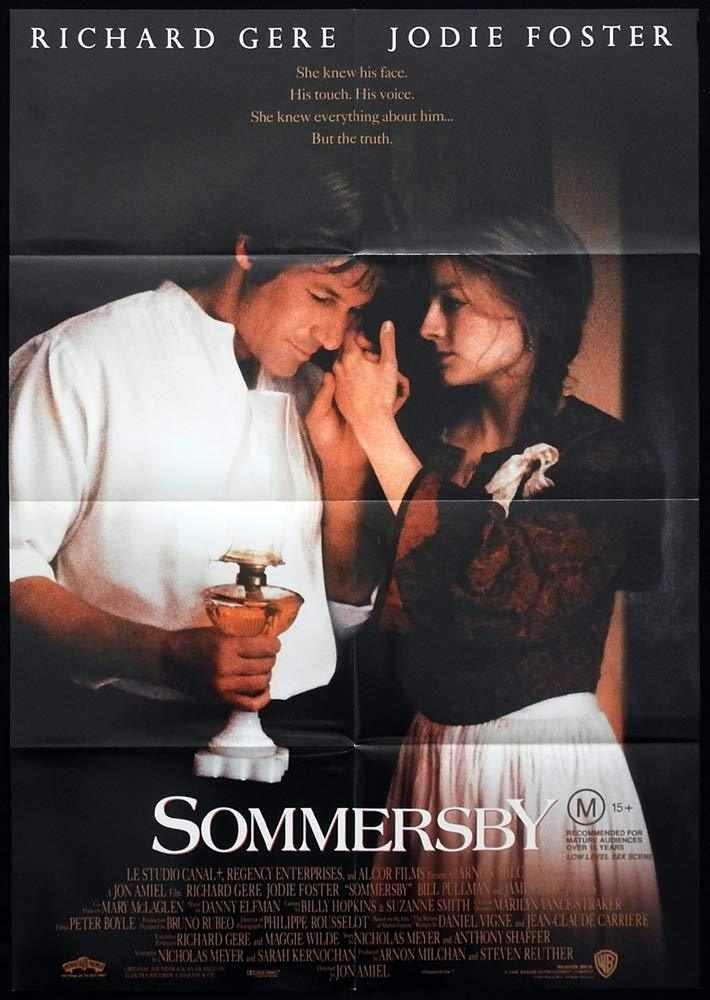 SOMMERSBY One sheet Movie Poster Richard Gere Jodie Foster