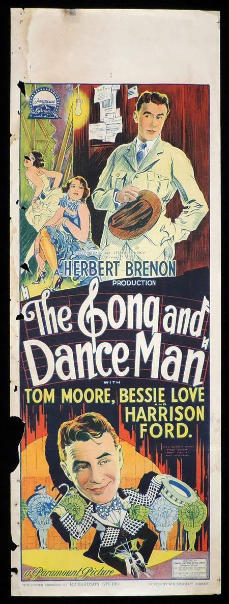 THE SONG AND DANCE MAN Original Daybill Movie Poster Tom Moore Bessie Love 1926 Richardson Studio