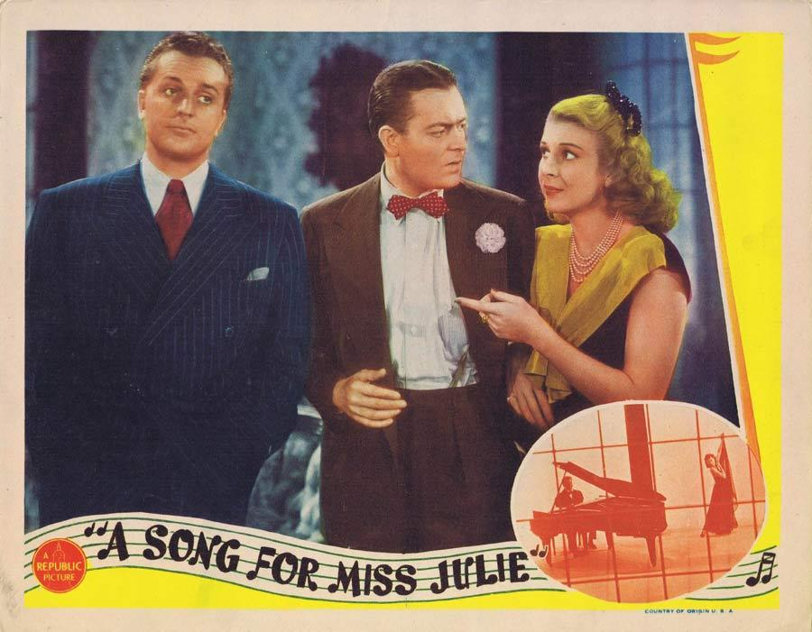 A SONG FOR MISS JULIE Lobby Card 1945 Shirley Ross