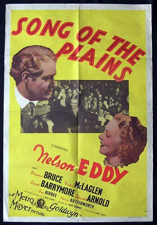SONG OF THE PLAINS aka LET FREEDOM RING One Sheet Movie Poster Nelson Eddy