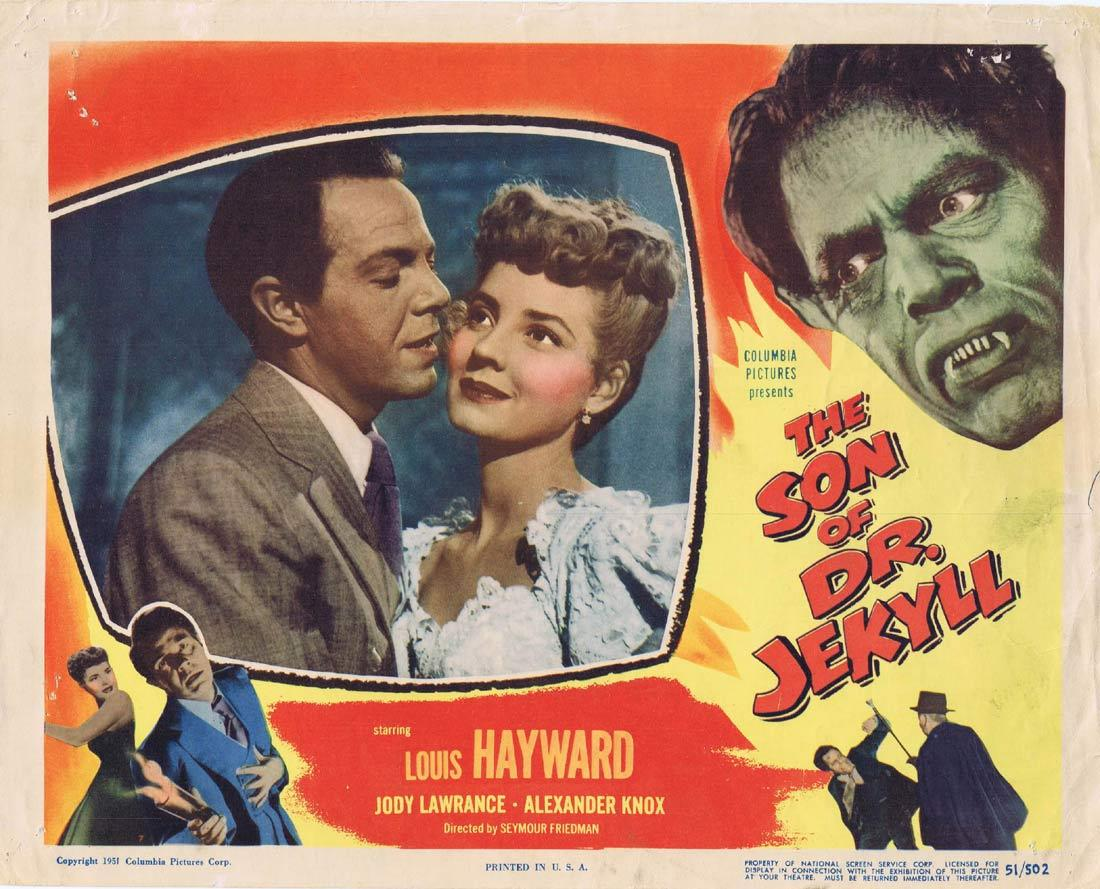 THE SON OF DR JEKYLL Lobby Card Louis Hayward Jody Lawrance Lester Matthews Alexander Knox