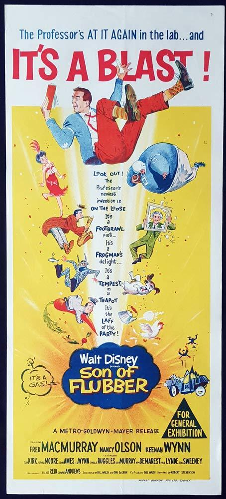 SON OF FLUBBER Original Daybill Movie Poster Fred MacMurray Disney